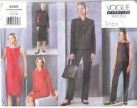 VOGUE 2465 Tamotsu Wardrobe Jacket Dress Skirt Pant Plus Sz 18-22 Sewing Pattern