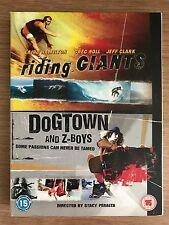RIDING GIANTS / DOGTOWN AND Z-BOYS  Peralta Skateboard Surfing Films UK DVD Box