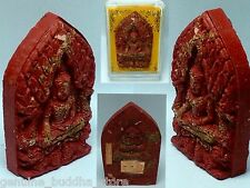 100% Genuine Amulet Collection Kruba O Sacred Hot Red Inlove Buddha 3D Khunpaeng