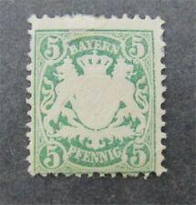 nystamps Germany States Bavaria Stamp # 39 Mint OG H $95   N27x2638