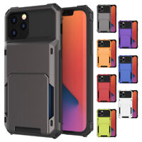Case With Hidden Credit Card Cover Slot Holder For iPhone 11 /12 Pro Max 12 mini