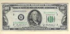 1950-B $100 FR 2159-B New York NY FRN Currency Hundred Dollar Paper Money Bill