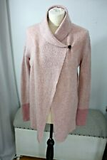Timberland dusky pink wool open front cardigan size S lambs wool?