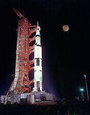 APOLLO 17 LAUNCH PAD FULL MOON NASA 8X10 GLOSSY PHOTO PICTURE