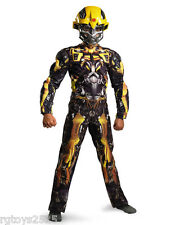 Transformers Dark of the Moon Size 4-6 Small Bumblebee Muscle Costume New Glows