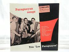 """Trio Los Paraguayos-paraguyan canciones 10"""" Lp c1955"""