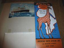 SS Brazil 1940-1941 cruise scrapbook- Barbados, Japan (menus, postcards)