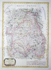 1771 - Original Antique Map FRANCE regions of BRIE & CHAMPAGNE by Bonne