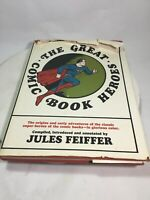 The Great Comic Book Heroes By Jules Feiffer Hard Bound Vintage Ephemera Pages