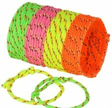 Adjustable Friendship Bracelet Colorful Neon Rope 144 PARTY pack 10 cents each!!