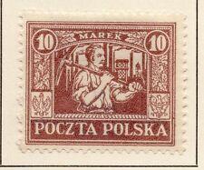 La Polonia 1922/23 precoce questione BELLE Mint Hinged 10m. 042837