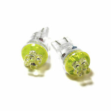 Renault Megane MK3 Yellow 4-LED Xenon Bright Side Light Beam Bulbs Pair Upgrade