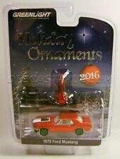 1970 '70 FORD MUSTANG GREEN MACHINE CHASE CAR HOLIDAY ORNAMENTS XMAS 2016 RARE