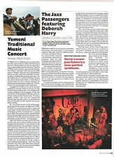 BLONDIE Debbie & Jazz Messengers concert review 1997 UK ARTICLE / clipping