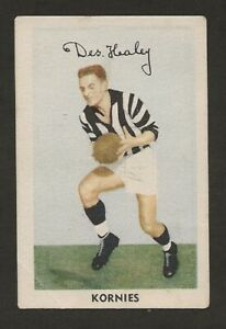 1951 KORNIES  VFL Footballers   COLLINGWOOD   Des Healey  Card  No 16   Vg.