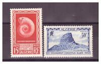 ALGERIE. N°  297/298. 2  VALEURS   GEOLOGIE     NEUVES  **     .SUPERBE .