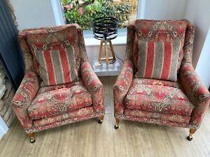 Duresta Trafalgar armchairs in Althorp russet/stone