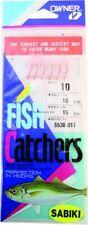 Owner 5538-017 Sabiki Shrimp Skin 6Hks 1Pk Sz10 Gld W/Pink Shrimp Skin