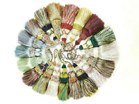 Borla Imperial Key Tassel Curtain Cushion Fabric Tassle 12cm +10cm loop Tasell