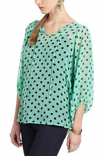 Spotted Peasant Blouse Mint Green Polka Dot Top By Karen Walker Anthropologie, 4
