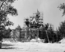 Disneyland Castle construction 24X36 inch poster, mickey mouse