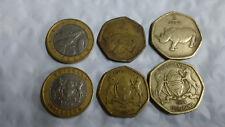 BOTSWANA, 3 PIECE COIN SET, 2, 2 & 5 PULA