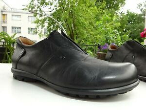 THINK 83650 KONG Herren Soft Schuhe Slipper Leder Schwarz Germany Gr.44 TOP