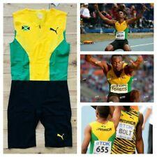 Puma Men's Pro Elite Jamaica 2013 Running Unitard Speed Suit Usain Bolt New XL