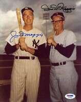 JOE and DOM DIMAGGIO PSA DNA COA Autograph 8x10 Photo  Hand Signed Authentic