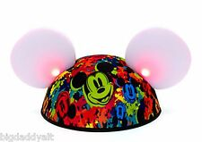 New Disney Park Glow With The Show World of Color Mickey Mouse Light Up Ear Hat