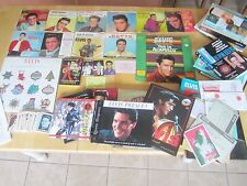 Elvis Presley Large Lot:  45rpm records, Picture sleeves, LP's, Books
