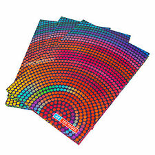 Set of 3 A4 Hardback Notebooks with Colour Dots Design Lined 80 Sheet 160 Pages