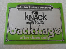 The Knack 1979 - backstage pass After show only - Tower Theater Upper Darby