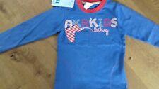 BNWT Homme AKR kids bleu rouge blanc à manches longues T Shirt 2 y 92 cm