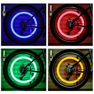 1xLED Flashing Light Bicycle Bike Tyre Tire Wheel Valve Spoke Cap Bright Lamp US