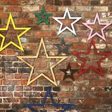 industrial metal rustic STARS sign lettering WALL DECOR vintage HOME BARN STAR
