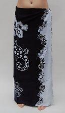 BRAND NEW UNISEX BLACK & WHITE GECKO SARONG BEACH WRAP PAREO COVER THROW / sa178