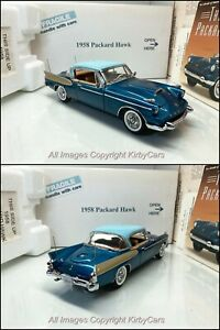 Danbury Mint 1958 PACKARD HAWK-NMIB//PAPERS- EXTREMELY RARE! STRIKING BLUE!