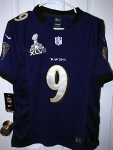 Justin Tucker #9 + Baltimore Ravens + Nike NFL On-Field Jersey Women's MED + NWT
