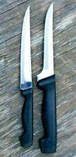 """Chef's Secret Kitchen Knife Set of 2: 10 3/8"""" Boning & 9 3/4"""" Steak, Japan"""