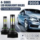 9006 LED Headlight Bulbs Kit HB4 High Low Beam Fog Lights 2400W 6000K White 2Pcs