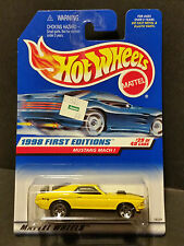 1998 Hot Wheels #670 1998 First Editions 29/40 - Mustang Mach 1 - Yellow - 18539