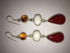 Agate Sterling Silver Fine Earrings
