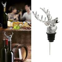 Deer Head Red Wine Pourer Aerator Stainless Steel Bottle Stopper Wine New