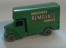 Matchbox Regular Wheel 17b Bedford Removal Van Outlined Letters MW 1958