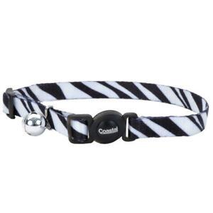 "Safe Cat Fashion Adjustable Breakaway Collar 3/8""x 08""-12"" Zebra"