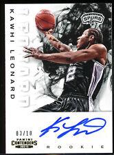 2012-13 Kawhi Leonard Panini Contenders Basketball GOLD RC AUTO (3/10) *ROOKIE*
