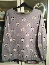 098 Atmos Plus Sz 20 Grey Bear 100% Cotton Fun Cute Jumper