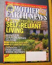 MOTHER EARTH NEWS MAGAZINE OCT/NOV 2013 SOLAR POWER WINTER GARDENING GUIDE