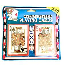 Baraja de cartas 2x naipes para Poker clasicas precintadas + dados incluidos